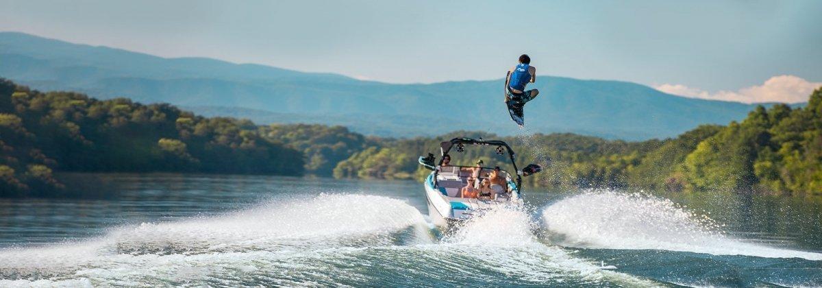 wakeboarder high jump